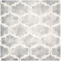 Safavieh Dip Dye Grey/Ivory 7 ft. x 7 ft. Square Area Rug