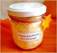Sucre parfumé à l'orange