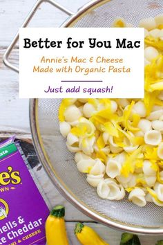 For a yummy meal that's perfect for lunch or dinner, Annie's Shells & White Cheddar is your easy, go-to option. Made with 100% real cheese and organic pasta, this classic, beloved mac is not only better for the planet we all share, but for everybunny in the family. Add some cooked summer squash for a little veggie boost.
