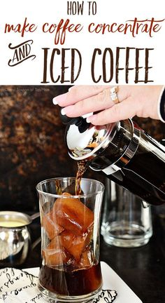 It's so easy to make a batch of coffee concentrate to keep in the fridge for Iced Coffee all week long any time you want!!  HINT:  make coffee ice cubes so your iced coffee doesn't get watered down!!