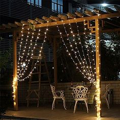 X 300 Led Warm White String Lights Fairy Curtain Outdoor Lighting Christmas