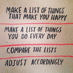 """A different kind of """"to-do"""" list... Pinned by www.drmelindadouglass.com via @ProjectHappiness 