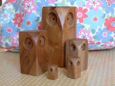 Large wooden owl by CupcakeWoods on Etsy, via Etsy.