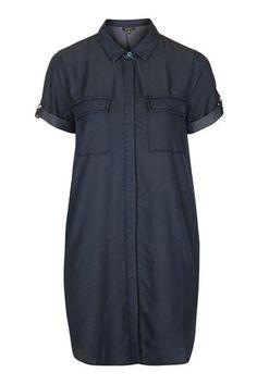 Womens D-Ring Pocket Shirt Dress