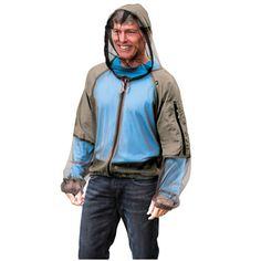The Hooded Zip Up Mosquito Jacket - Hammacher Schlemmer .....@Charles King needs this!