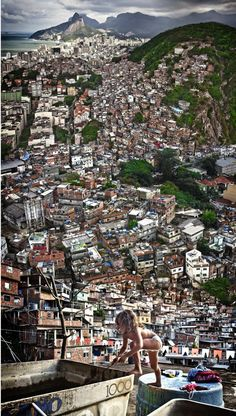 "Favela in Río de Janeiro, Brazil. Unfortunately, Rio is not only ""sun, beach and carnival"". But it's still wonderful! *There are guided tours into those Favelas. Here's a cool website that you can check out: http://favelatour.org/"
