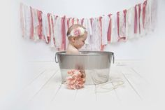 post cake smash bubble bath! little girl, shabby chic and vintage touches