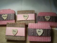 Bridesmaids gifts rustic favors handmade soaps by CountryChicSoaps, $3.99