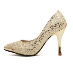 Stunning Metal Head Lace Pumps – teeteecee - fashion in style Merrill Shoes, Lace Pumps, Blowfish Shoes, Baker Shoes, Keen Shoes, Vintage Shoes, Wedding Shoes, Dress Shoes
