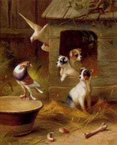 Hunt Edgar - Pigeons and Puppies
