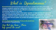 Dysautonomia POTS Awareness  ~What is Dysautonomia?