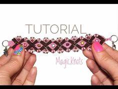 Micro Macrame Anna Bracelet DIY ♥ - YouTube