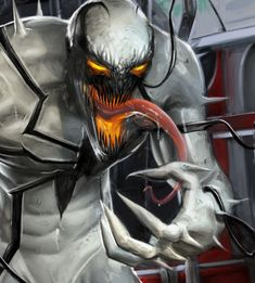 Art by Mike Thompson Venom Comics, Marvel Venom, Marvel Comics Art, Marvel Heroes, Marvel Avengers, Marvel Comic Character, Marvel Characters, Venom Art, Marvel Infinity