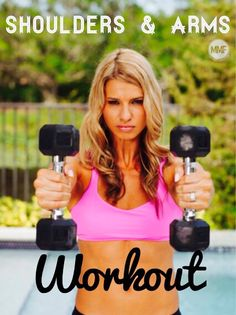 Great #ARMS #WORKOUT for #WOMEN. Awesome cuz can do these from home. Love these #HOMEWORKOUTS. And there's a great #HEALTHY #RECIPE here too. http://michellemariefit.publishpath.com/shoulders-arms-workout-an-awesome-recipe