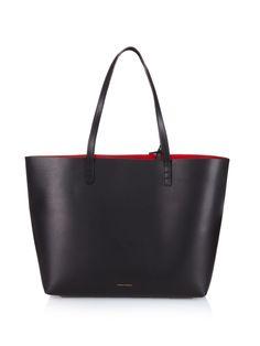Large red-lined leather tote | Mansur Gavriel | MATCHESFASHION.COM UK