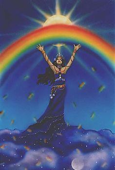 Rainbow Goddess by Cathy McClelland