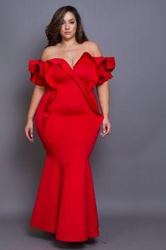 Plus Size Evening Maxi Gown