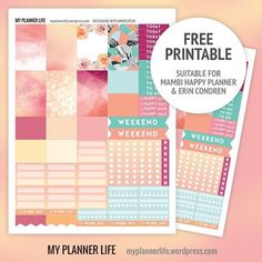 Free stickers! I love this color palette, but they don't look good on me. I can dress up my planner with them, though.
