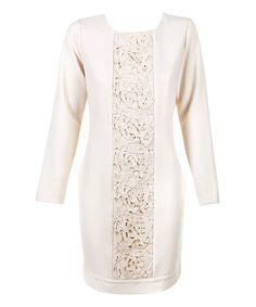 Darling Cream Peony Dress | zulily