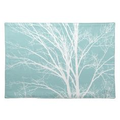 White Tree Branches Place Mats