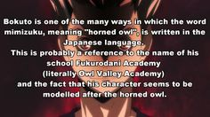 Haikyuu!! facts. Anime Facts... Also, Bo looks so frightening here.