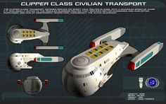 Clipper Class Civilian Transport ortho by unusualsuspex on DeviantArt Star Wars, Star Trek Tos, Stark Trek, Starfleet Ships, Sci Fi Spaceships, Space Engineers, Star Trek Characters, Star Trek Starships, Rpg