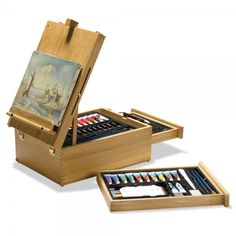 104-Piece Multi Media Art Set | The set's premium-quality media includes 12 oil paints, 12 acrylic paints, 12 watercolor paints, 12 watercolor pencils, 12 charcoal pastels, and 12 oil pastels. Shop at SkyMall.com!