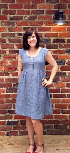 made by rae nursing washi dress, union dot chambray