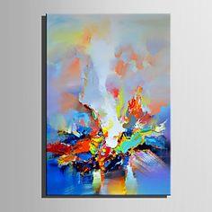 Pintada a mano Paisaje Vertical,Retro Un Panel Lienzos Pintura al óleo pintada a colgar For Decoración hogareña 5981112 2017 – $204.581