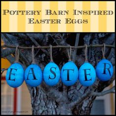 Pottery Barn Inspired Easter Eggs