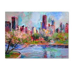 Richard Wallich 'Cityscape 2' Canvas Art - Overstock Shopping - Top Rated Canvas