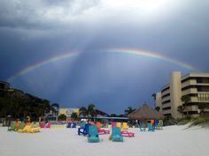 Somewhere under the rainbow.....Plaza Beach Hotel in St Pete Beach.....your pot of gold!!