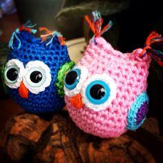 Cute tiny little crochet owls