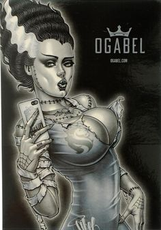 Art by OG Abel 'chicano Dark Fantasy Art, Fantasy Girl, Dark Art, Arte Horror, Horror Art, Zombie Kunst, Zombie Art, Cartoon Kunst, Cartoon Art