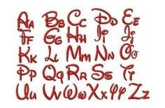 disney fonts | Free Embroidery Designs Walt Disney Style Font Set - Free Embroidery ...
