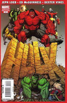 Hulk # 11 (Variant) by Arthur Adams Arte Dc Comics, Marvel Comics Art, Hulk Marvel, Marvel Comic Books, Comic Book Heroes, Marvel Heroes, Marvel Characters, World War Hulk, Planet Hulk