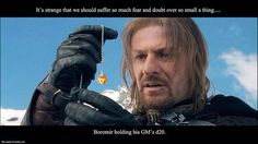 Boromir Holding DM's d20