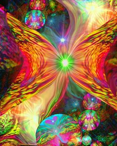 Healing Art. Looks like a butterfly, the word 'metamorphis' came to me in a dream. Think it speaks volumes RE: healing & returning to the path of our soul... VC
