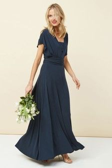 Womens Next Navy Multiway Bridesmaid Dress - Blue Multiway Bridesmaid Dress, Bridesmaid Dresses With Sleeves, Bridesmaid Outfit, Blue Wedding Dresses, Blue Dresses, Bridesmaids, Bridesmaid Ideas, Wedding Outfits, Sparkle Skirt