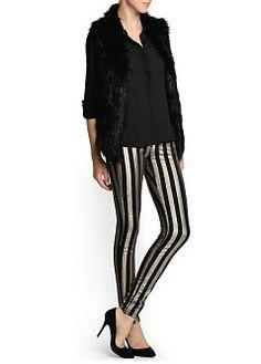 MANGO - CLOTHING - Jeans - Super slim-fit striped Eclat jeans