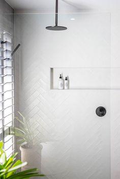 Home Interior Traditional .Home Interior Traditional Bathroom Renos, Laundry In Bathroom, Bathroom Renovations, Home Remodeling, Dyi Bathroom, Bathroom Niche, Modern White Bathroom, White Bathroom Tiles, Wooden Bathroom
