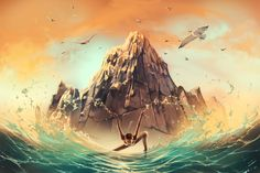 Capricorn: French psychologist and artist Cyril Rolando has reimagined the 12 signs of the zodiac as breathtaking dancers. Digitally painted in Rolando's signature dreamy style, the series is full of energy and enchantment Zodiac Art, Zodiac Signs, Zodiac Capricorn, Aquarius, Miyazaki, Cyril Rolando, Photoshop, Art Courses, Animation
