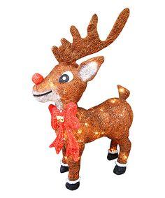 Love this 13'' Rudolph Reindeer Light Décor by Alpine Corporation on #zulily! #zulilyfinds