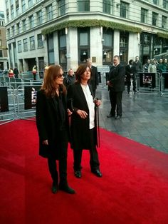 Isabelle Huppert and Catherine Breillat arrive for Abuse Of Weakness
