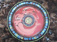 """""""A nude painted on an old hubcap by Bloomington artist Abby Wolf. Indiana, Wolf, Art Pieces, Nude, Artist, Artworks, Artists, Wolves, Art Work"""