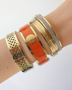 Dyrberg/Kern Armband - Jove Gold & Orange