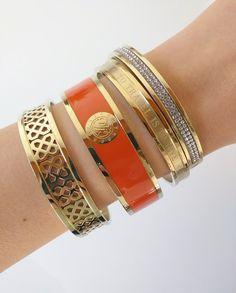 Dyrberg/Kern Armband - Jove Gold & Orange