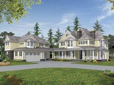 Country House Plan with 5945 Square Feet and 5 Bedrooms from Dream Home Source | House Plan Code DHSW64111