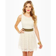 white lace dress with cutee belt :)