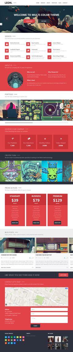 Leon: MultiColor WordPress Theme on Behance